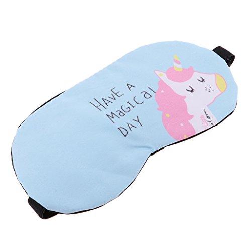 Sharplace Máscara de Ojos Antifaces para Dormir Cansancio Eyeshade Calor Fresco Regalo para Adultos Niños - Unicornio Azul