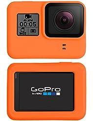 Funda de silicona de PhoneNatic para GoPro Hero 5 - Naranja Funda GoPro Hero 5 + Tapa para objetivo