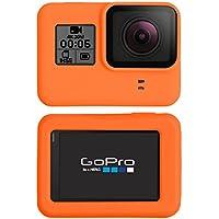 PhoneNatic Funda de Silicona GoPro Hero 5 - Naranja Funda GoPro Hero 5 + Tapa para Objetivo
