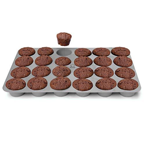 Backefix Mini Muffinform Muffinblech aus Silikon mit Antihafteigenschaft - 24er Muffin Backform Muffin Ø 4,5cm