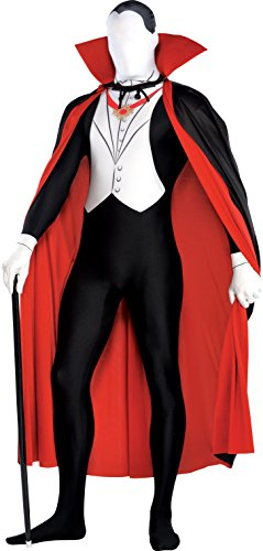 New Amscan Herren Halloween Vampire zweite Haut Party Anzug & Cape Fancy Kleid Kostüm