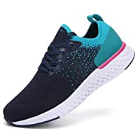 adituob Womens Walking Shoes Athletic Running Shoes Lightweight Tennis Sport Trainers Blue 6.5UK/EU40