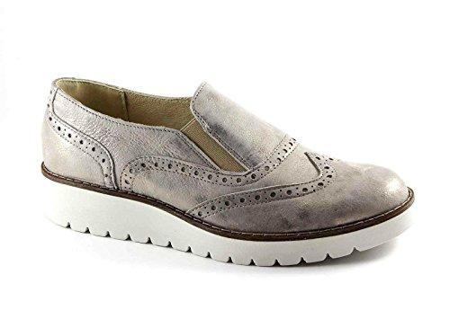 IGI&CO 77413 taupe beige scarpe donna sneaker slip on zeppa elastici Beige
