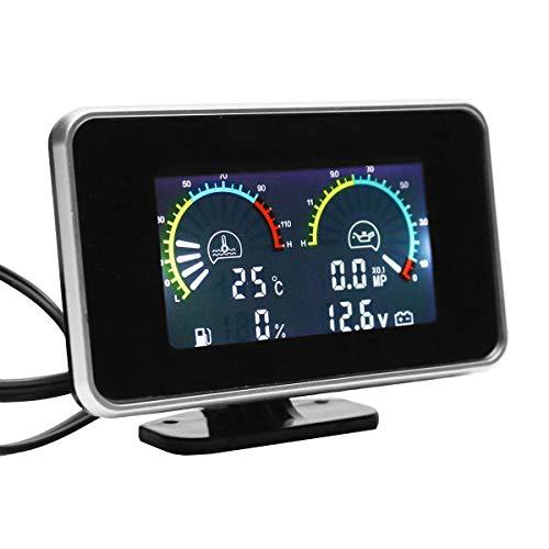 SODIAL 4-En-1 LCD Coche LCD Digital Medidor de Presión de Aceite del...