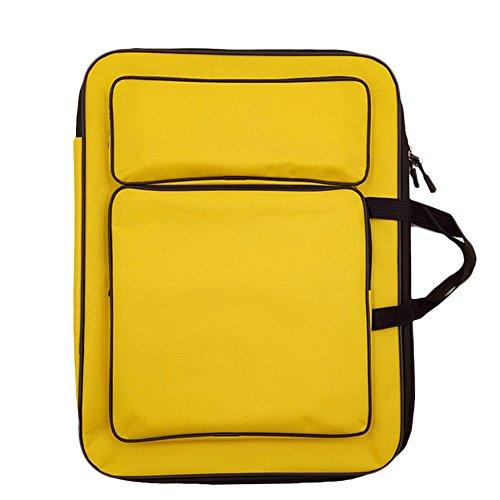 Dosige Art Drawing Board Bag 8K Drawing Board Bag Waterproof Portable Art  Backpack Art Supplies Yellow 732841301974a