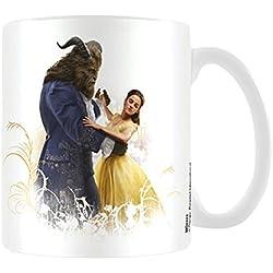 Taza de cerámica con diseño de la película La bella y la bestia, multicolor