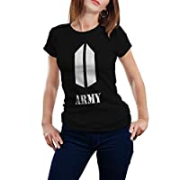 Black T-shirt BTS Army design - Women