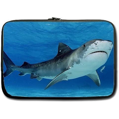 Mar mundo bolsa para portátil–nuevo estilo tiburón 1313,3pulgadas portátil/Macbook Pro/MacBook Air Funda blanda para portátil