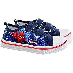 Marvel Spiderman Niños Zapatillas Deportivas Azul/Rojo Cierre Adhesivo (29 UE)