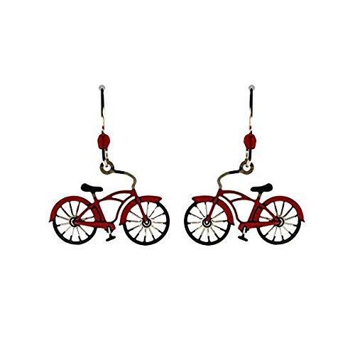 Sienna Sky Vintage Stil Rot Fahrrad Ohrringe 1664 -