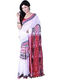 Tjsarees T J Sarees Premium Quality Designer Handloom Cotton Fish Motiv Sarees