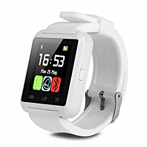 Bluetooth U8 Smart Watch Wrist Watch can connect with your smart phone with 60 Days Warranty (Colour White) compatiable with Panasonic T44 Lite