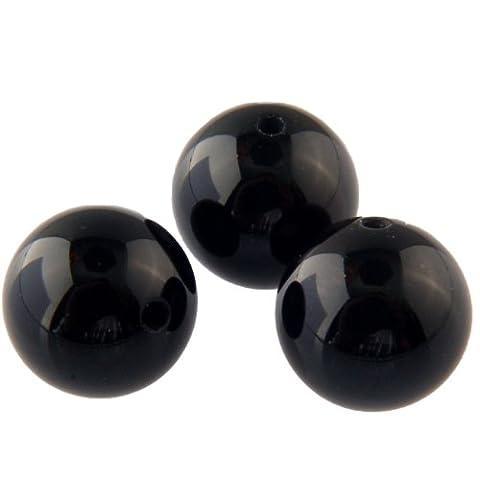 Black Onyx 6mm round beads - 30 pack