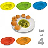 Bulfyss Plastic Plate, Set of 4, Multicolour