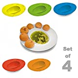 4 PCs Pani Puri Plate For Home Office Outdoor Picnic Chat
