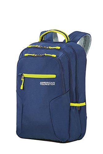 "American Tourister Urban Groove Backpack for 15.6\"" Laptop - 0.6 KG Rucksack, 48 cm, 26 L, True Navy/Lime"