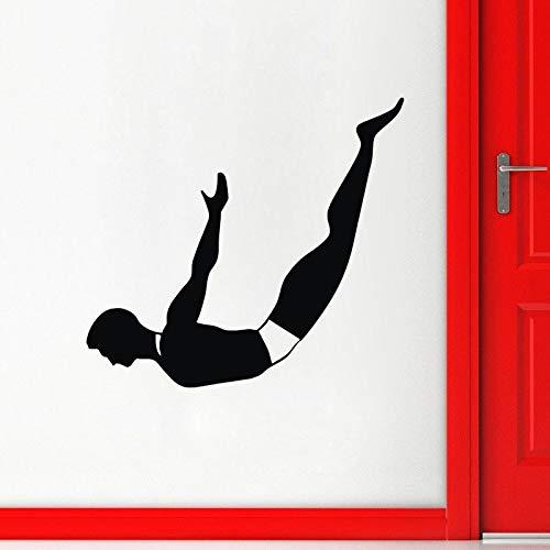 Njuxcnhg Tauchen Wandaufkleber Steuern Dekor Wohnzimmer Sport Wandtattoos Vinyl Kunst Aufkleber Tapete 59X65 cm