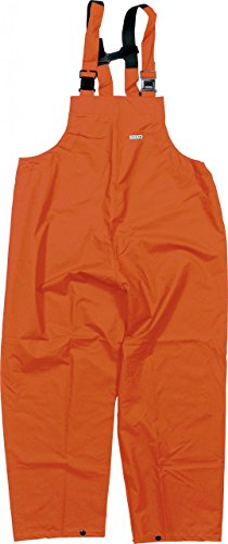 Ocean Rainwear Damen Herren Regenlatzhose Comfort Heavy Segelhose, Farbe:orange, Größe:L
