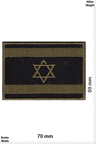 Israel Flag Patch (Patch-Iron-Israel Flagge - Israel Flag - natogrün - - Länder - - Iron On Patches - Aufnäher Embleme Bügelbild Aufbügler)