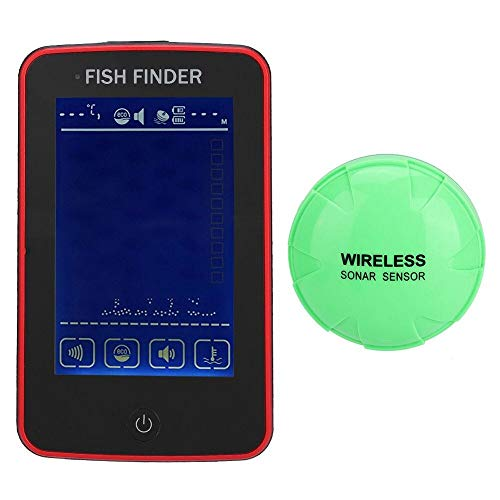 Nianzhiqianღ Fischfinder, HD Kamera Fischfinder, Farbdisplay, Touchscreen, kabellos, Unterwasser-Fischfinder, Sonar-Sensor, für den Außenbereich