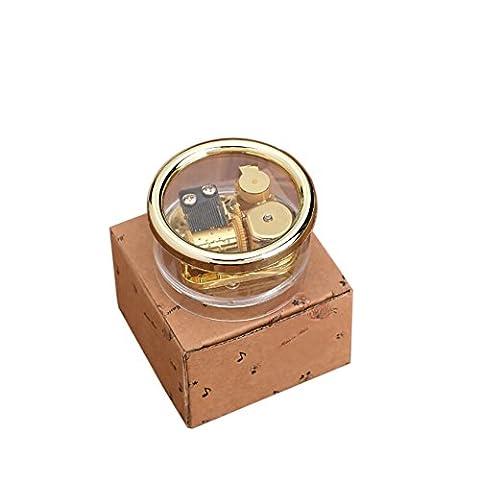 Balai Unique Transparent Acrylic Wind Up Mechanism Boîte à musique Fancy Gift for L