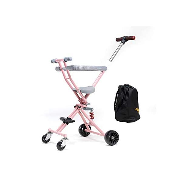 NACHEN Baby Airplane Stroller Lightweight Baby Stroller For Opening & Folding Infant Carriage NACHEN The new children's tricycle baby stroller can be folded easily One-click folding, convenient storage, can be on the plane. Double rear wheel brake system, let the baby safe, SUV-level shock absorption system, safe and enjoy leisure time. 1