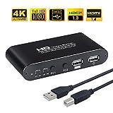 AIMOS HDMI KVM Switch, USB 2 Port Computer Tastatur Maus Umschalter Box Unterstützung 4K @ 30Hz 3D für Laptop, PC, PS4, Xbox HDTV