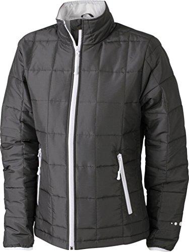 JAMES & NICHOLSON Veste matelassée avec Thinsulate insulation™ 3M noir/argent