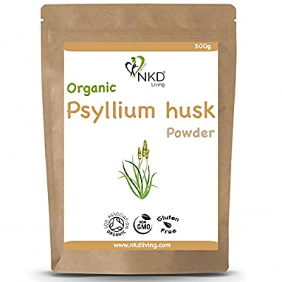 Psyllium Husk Powder by NKD Living (500g) | Tested for Heavy Metals, Micro-Organisms and Over 500 Pesticides