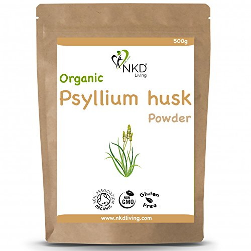 Organic Psyllium Husk Powder by NKD Living (500 gm)