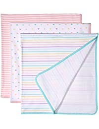 Amazon Essentials 3-Pack Swaddle Blanket Infant and Toddler Costumes, One size