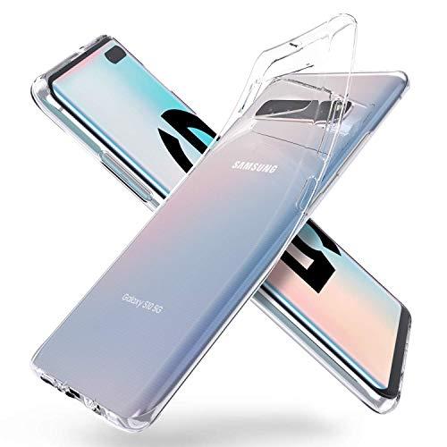 5g Cover (AVANA Hülle für Samsung Galaxy S10 5G Schutzhülle Slim Fit Case Schutz Durchsichtige Tasche Silikon TPU Dünne Handyhülle Klar Cover Kompatibel mit Samsung Galaxy S10 5G - Transparent)