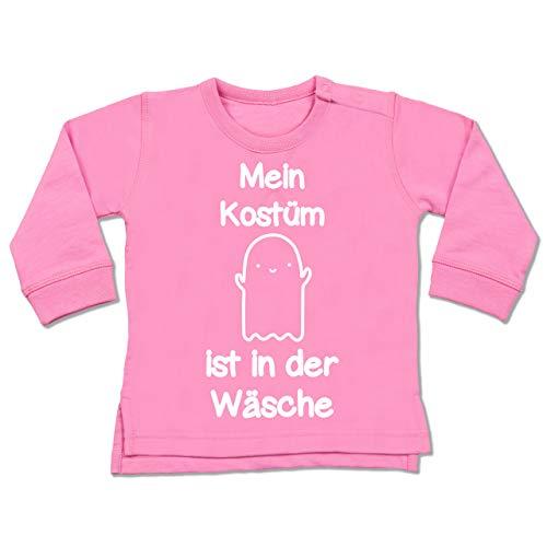 Baby - Mein Kostüm ist in der Wäsche Gespenst - 6-12 Monate - Pink - BZ31 - Baby Pullover ()