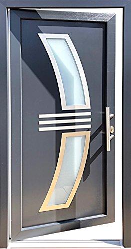 Nr.2 Haustür 100 x 210 cm,Wohnungstür in anthrazit,Hauseingangstür,Innen R.Neu!