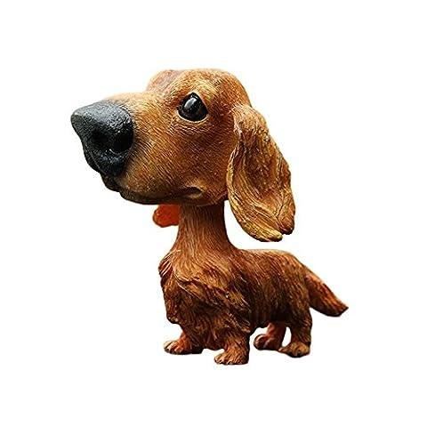 COGEEK Bobble Head Dogs Bobbing Heads Car Dash Puppy Car decoration (Dachshund)