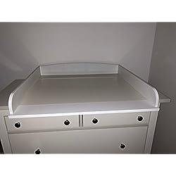 perezoso Kids–Cambiador ufsatz para Ikea kommoden Cómoda, con una anchura de 30–51cm madera color blanco