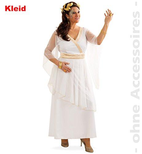 Kostüm Griechin Athena Gr. 42- 48 Kleid weiß Antike Fasching Römerin ()