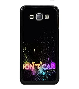 iFasho don't care quotes Back Case Cover for Samsung Galaxy J1 (2016 Edition)