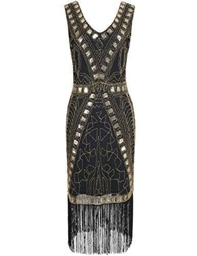 PrettyGuide Damen 1920er Jahre Flapper Kleid Art Deco -