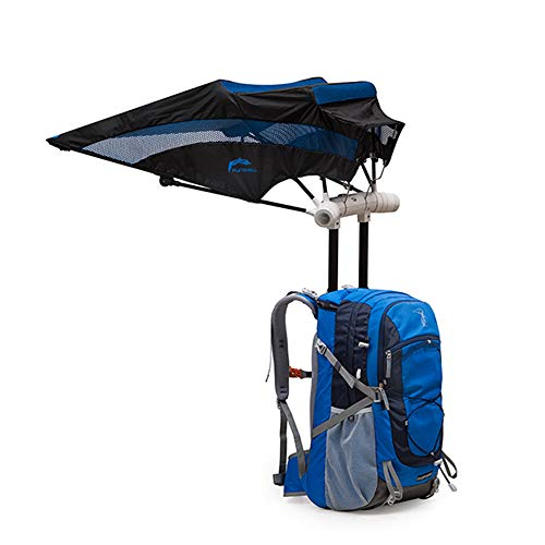 HYRL Outdoor Fan Rucksack Regenschirm, Reisetasche Freihand-Regenschirm Licht Travel One Umbrella Bag Smart Rucksack
