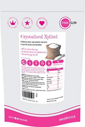 PINK SUN Xilitol 2kg Ecológico Sustitución de Azúcar Alternativa Edulcorante Gránulos Finos...