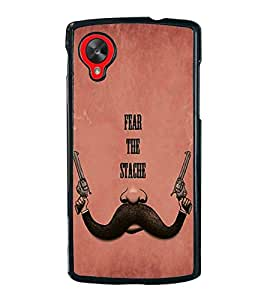 Fuson Premium 2D Back Case Cover Fear the stage With Brown Background Degined For LG Google Nexus 5::LG Google Nexus 5 (2014 1st Gen)