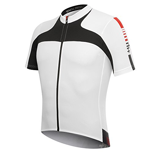 zero rh+ Agility Jersey Men s Cycling Jersey with Full-Length Zip  Multi-Coloured white 1ff19ad83
