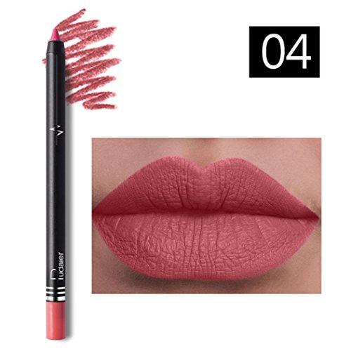 Huihong Pudaier 26 farben professionelle wasserdicht lipliner make-up lip liner bleistift (4#)