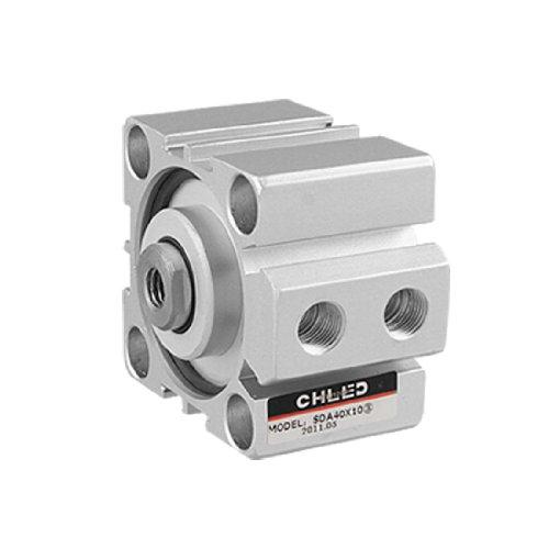sourcingmap® 40mm Bohrung 10 mm Nabe SDA Serien Kompakt Druckluftzylinder Doppelte Aktion