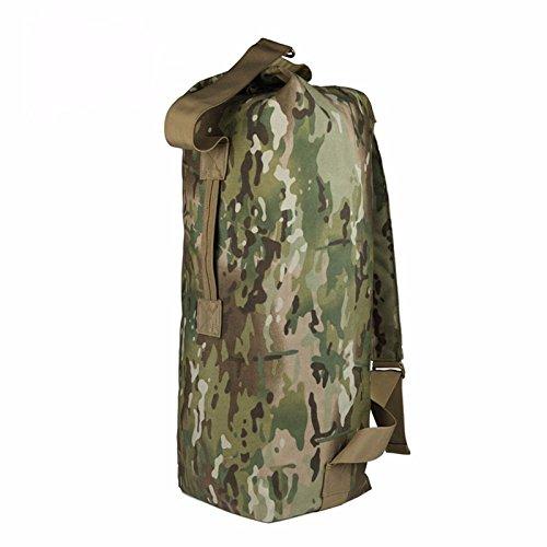TBB-Doppio zaino borsa a tracolla escursionismo outdoor canna travel bag sacchetto di nylon,un C