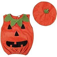 BESTOYARD Traje de Traje de Disfraz de Calabaza de Halloween Viste Ropa con Sombrero para bebé Photo Booth Prop