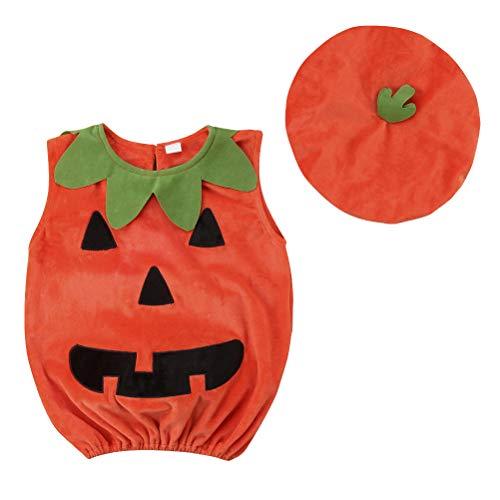 BESTOYARD Halloween Kürbis Kostüm Anzug Outfit Dress Up Kleidung mit Hut für Baby Photo Booth (Kürbis Tanz Kostüm)
