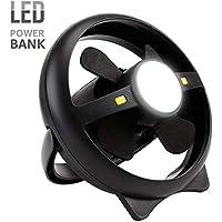Apreciis - Farol LED Recargable USB para Acampada con Ventilador de Techo
