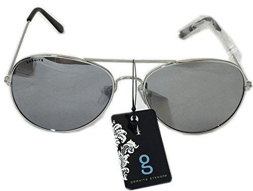 GRANITE 2419 Modell 2013 Sonnenbrille Pilotenbrille für Herren Filter S 3 (Silber) (3 Licht Granit)